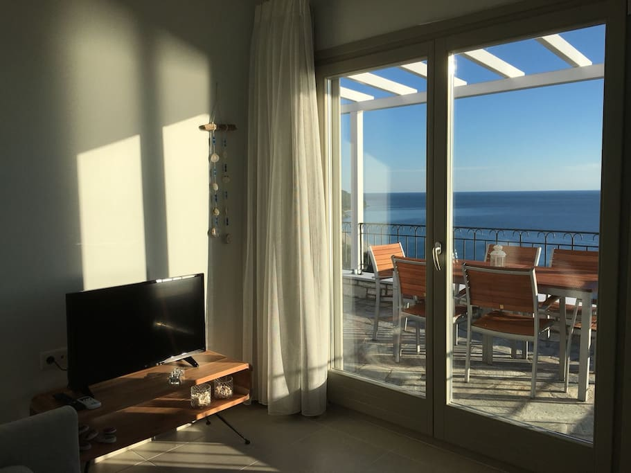 Living room area with view to the total blue