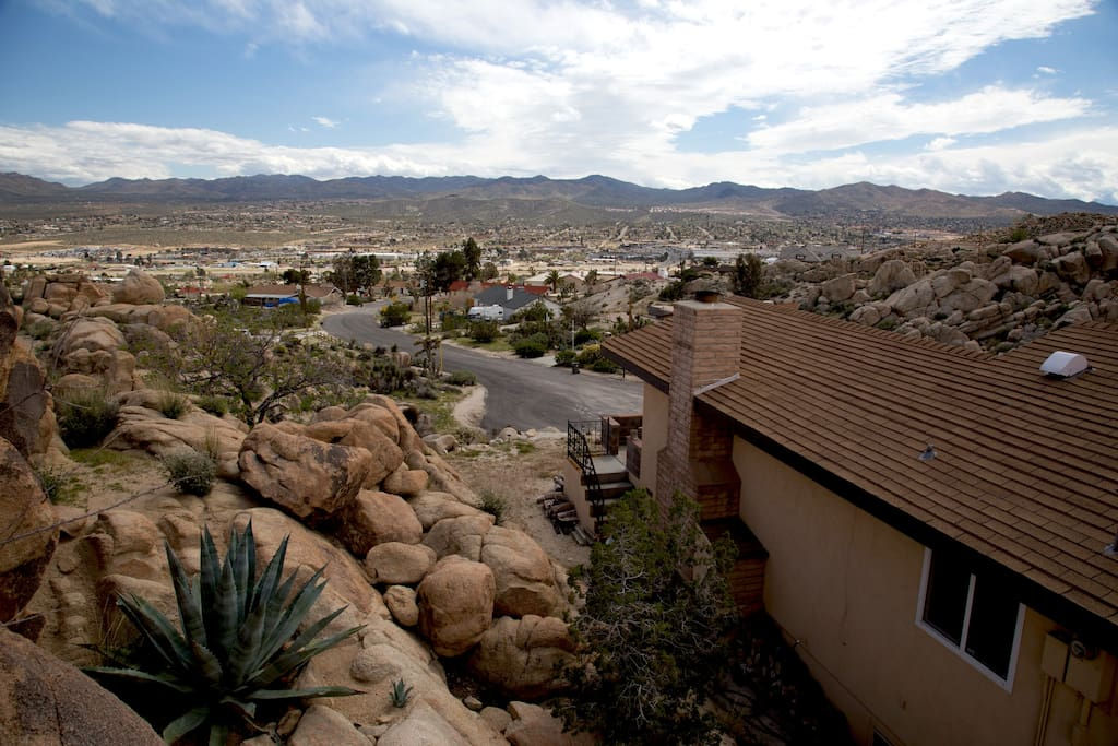 Bouldering above house