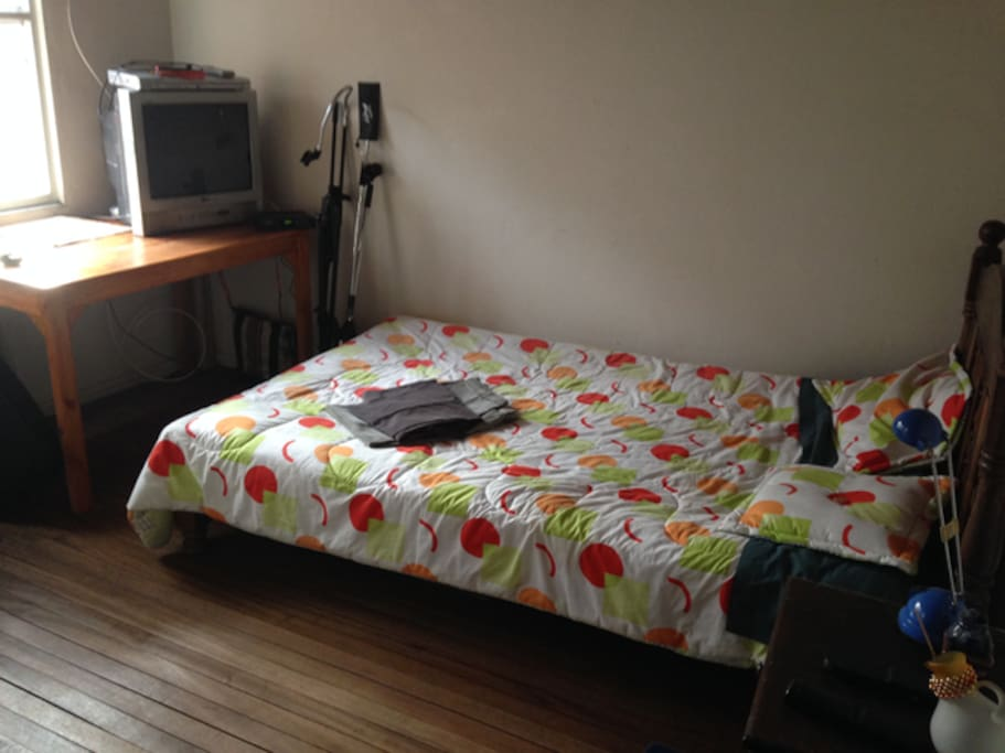 The double-bed room