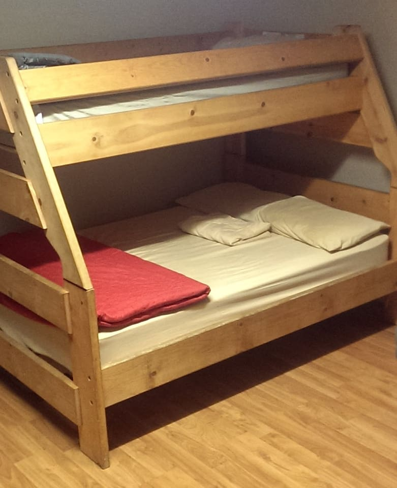 You are renting 1 bed per person in shared bunk room.