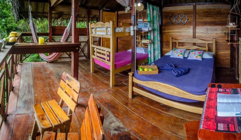 Lodge cabaña en los arboles Hostal Colibri