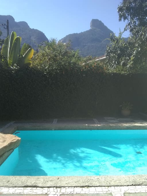 Pool with Tijuca Forest and Pedra da Gavea on the background