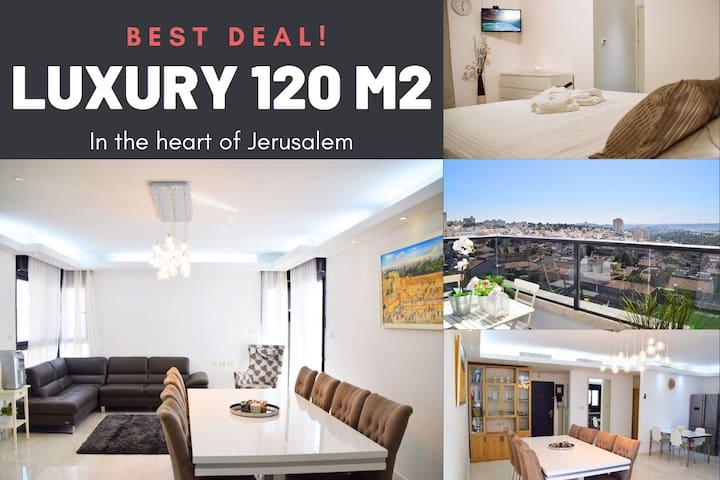 Luxury 120m2 Jerusalem 5⭐️⭐️⭐️⭐️⭐️ Best location!