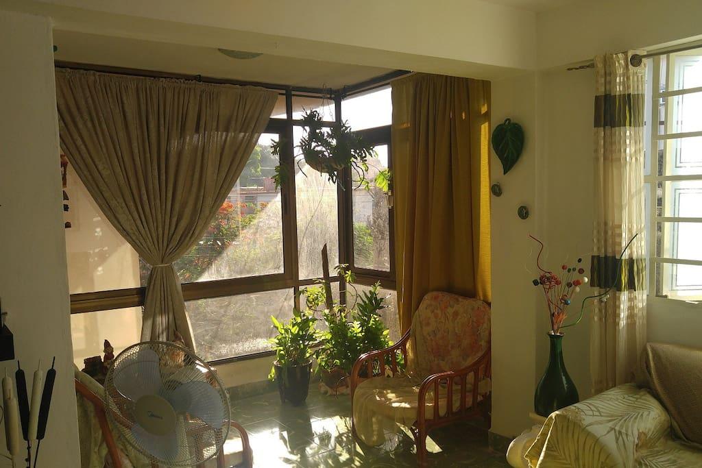 Balcon con exelentes vistas