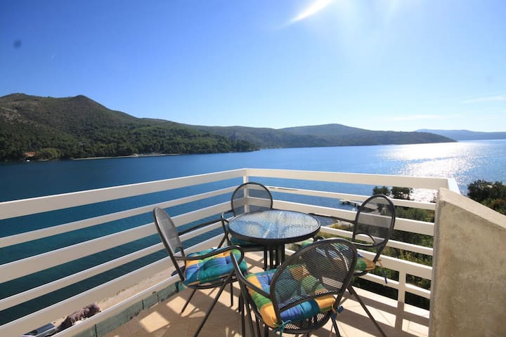 Two bedroom apartment near beach Slano, Dubrovnik (A-8741-a)