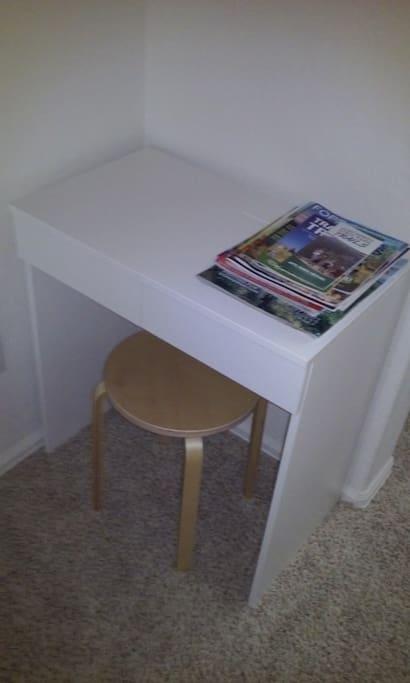 In room computer desk