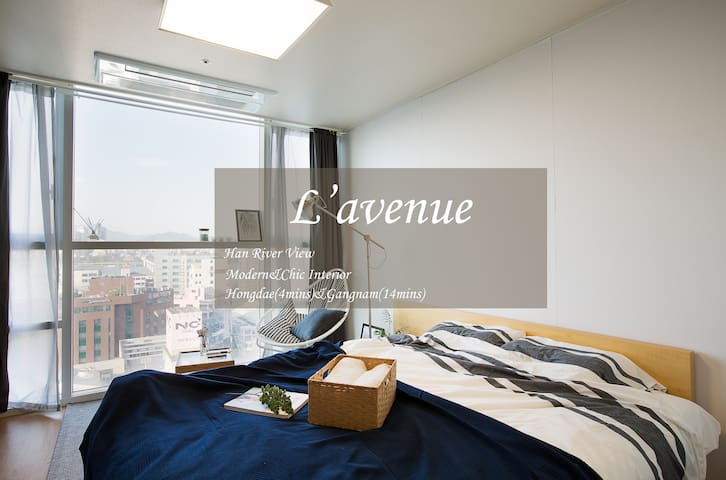 New!!Cozy&River view place.Hongdae(4mins)