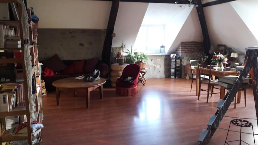 Chambre dans bel appartement F4 vue sur Pyrénées - Laloubère