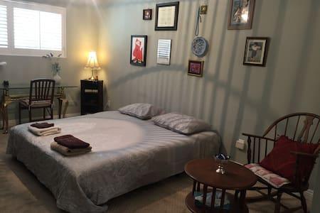 Spacious room in a cozy, leafy green neighborhood
