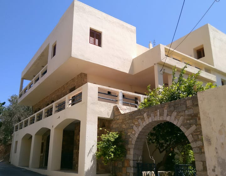 Cretan home with splendid view of see port