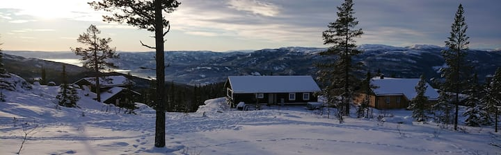 Moutain cabin with spectecular view Norefjell