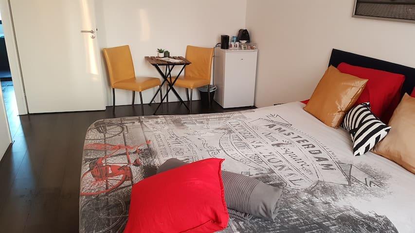 Kingsize bed (20 min Amsterdam CS) Gratis Parkeren