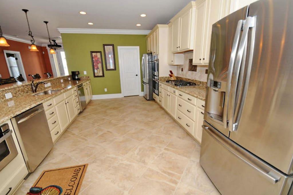 Beautiful kitchen with 2 fridges