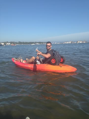 Kayaking in the harbour