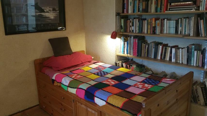 Une chambre bibliothèque bien fraîche en été