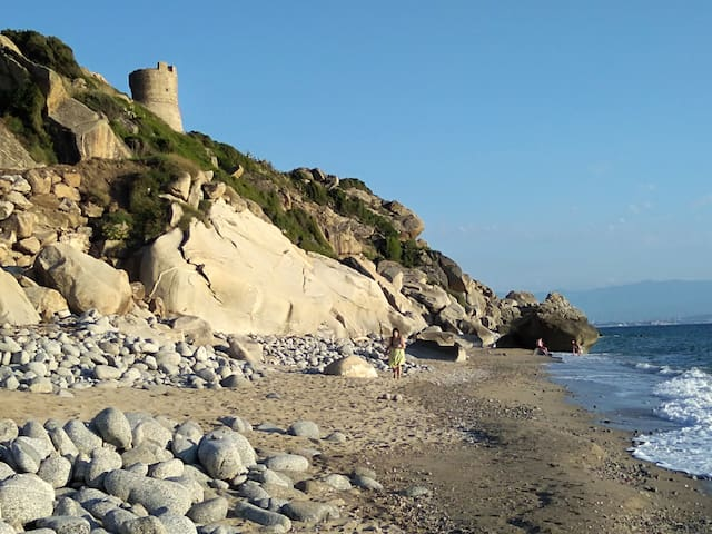 Joppolo 's beach under the tower