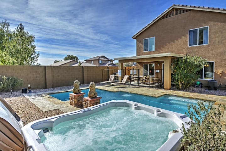 Coolidge Getaway w/Private Pool, Hot Tub+Fire Pit!