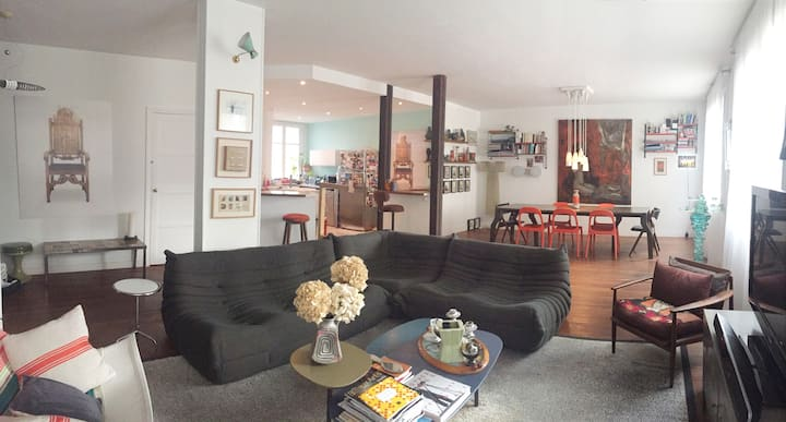 Loft, 3 bedrooms, 2' walk Exhibition Center