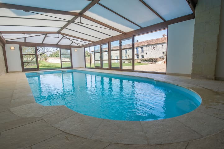 Cottage Les Orchidees Exclusive indoor Pool & Spa - Vaudelnay