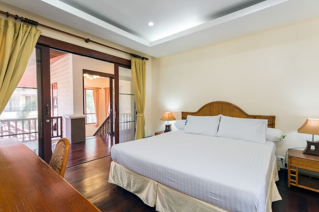 Your bedroom and view on the terrace