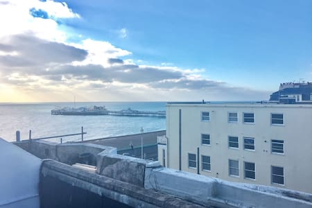 Roof terrace with sea views - Brighton - Daire