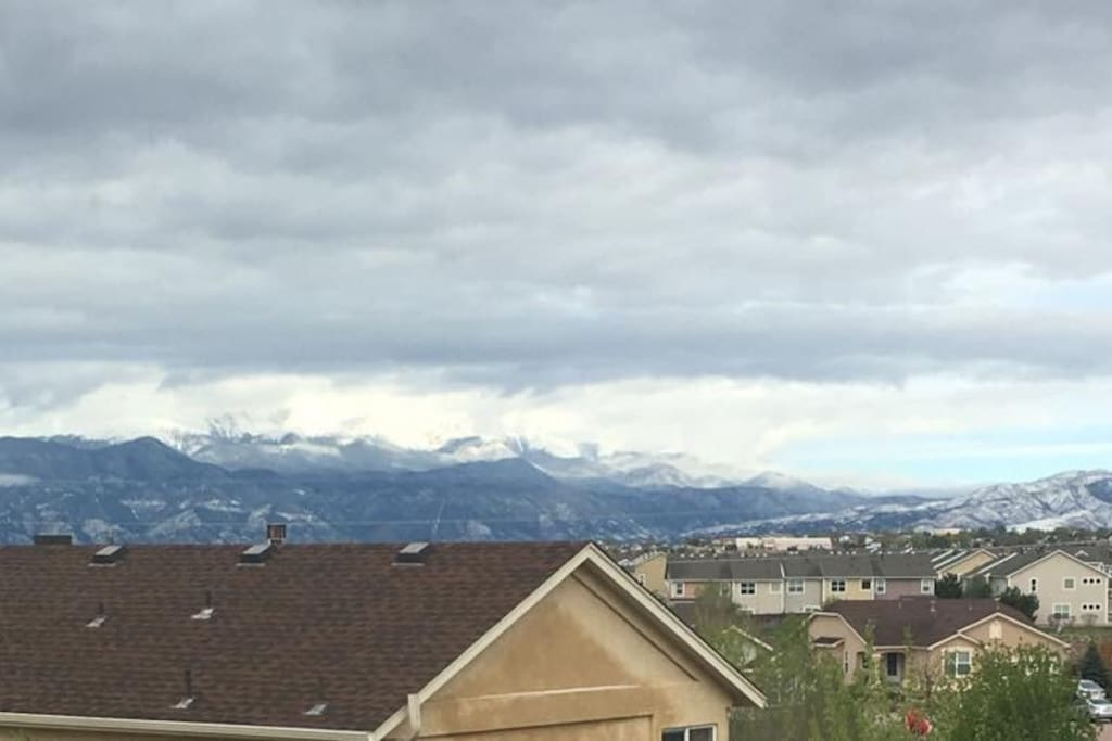Pikes Peak on a cloudy day