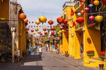 Hoi An Old Town is about a 30-minute drive from the house.