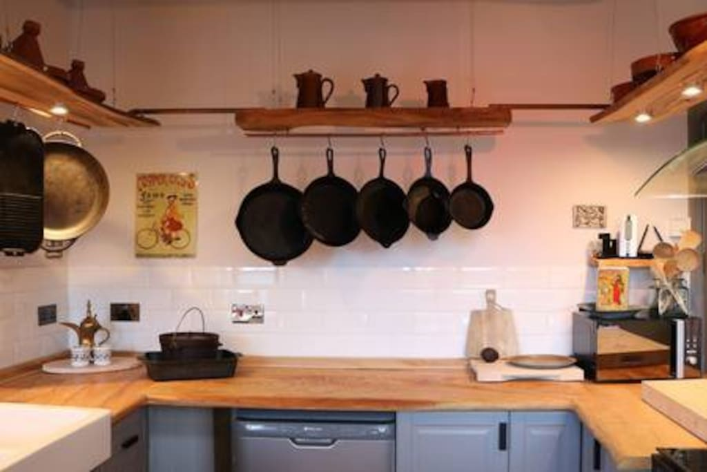 Guests have use of the fully equipped kitchen.