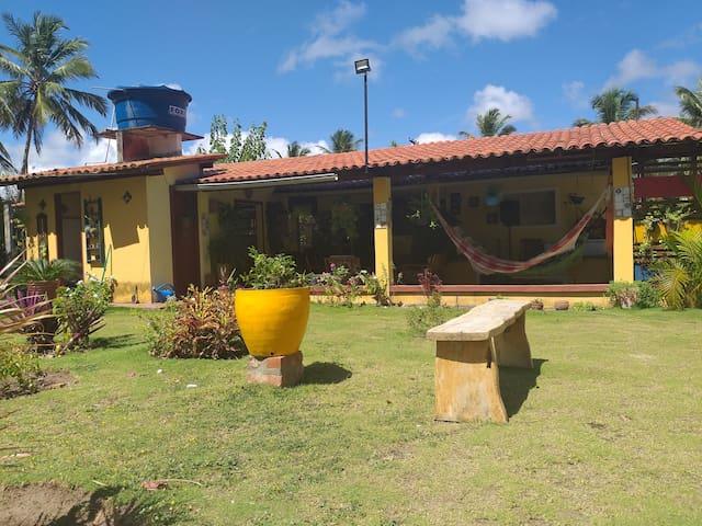 Paraíso natural em Barra de Mamanguape, rio e mar