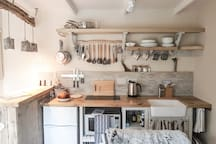 the kitchenette- with everything you need and more :-)