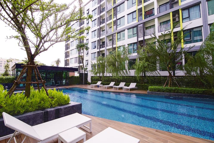 Exquisite double apartment Stylish pool + gym
