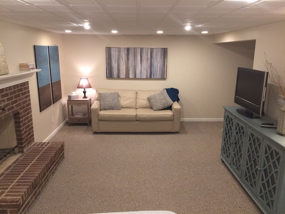 Suite has separate sofa/sofa bed, comfortable for additional guests or relaxing.