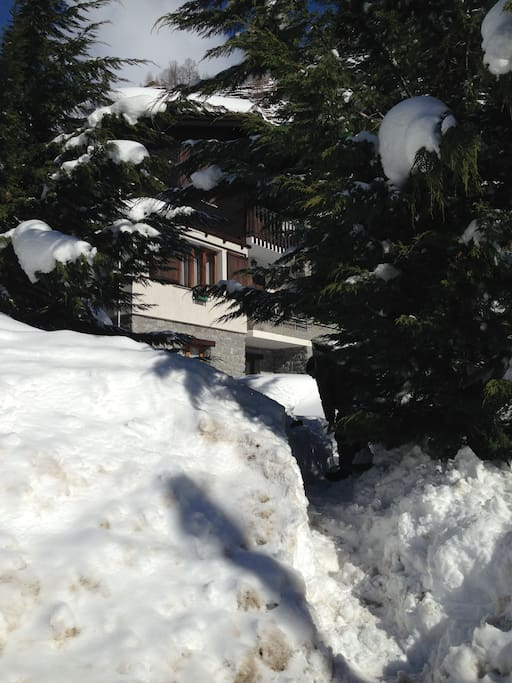 Esterno con la neve