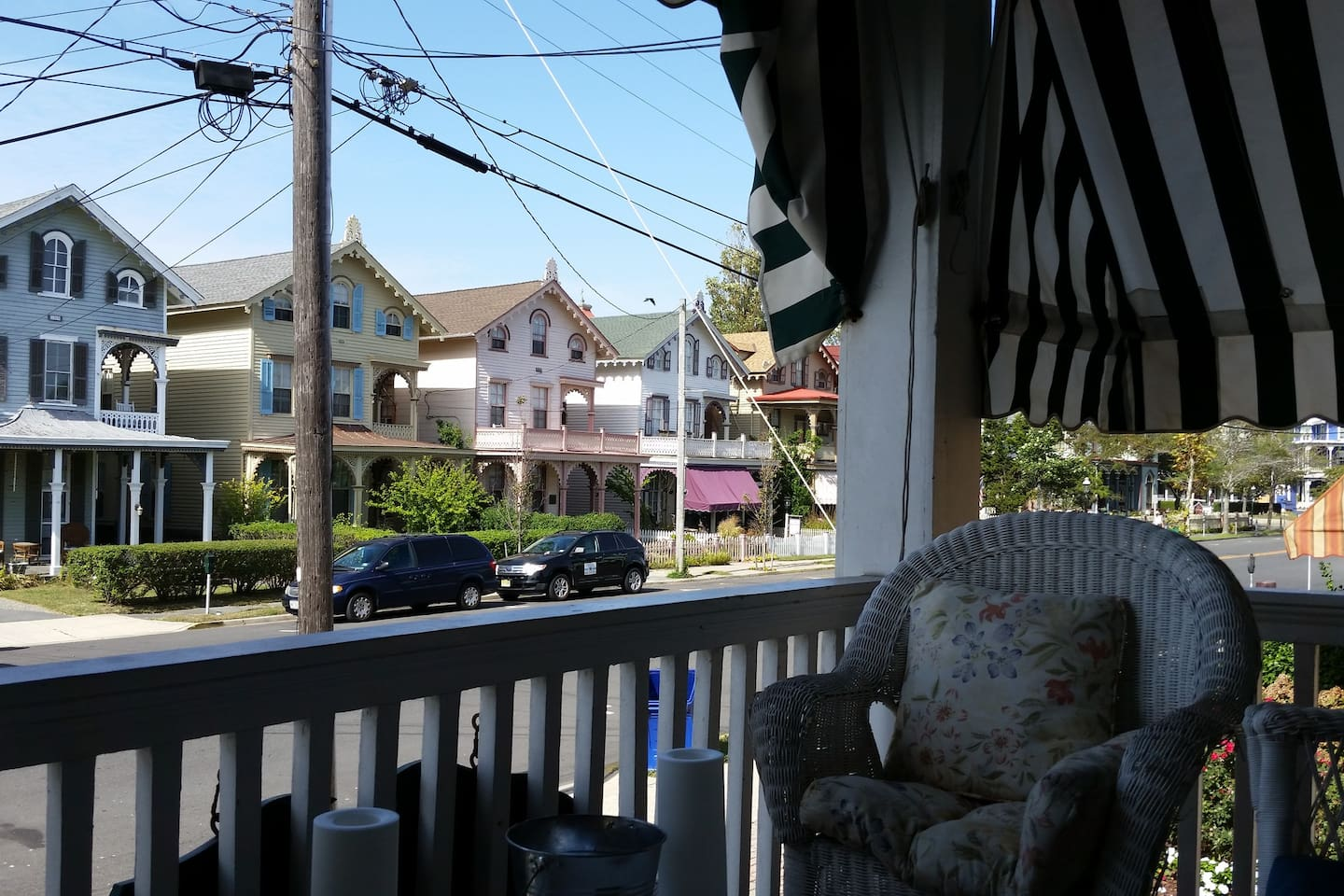 Enjoy Cape May's Victorian splendor from the porch
