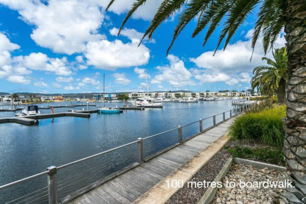 200m from home is the boardwalk with a short stroll to the beach and cafe.