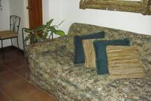 Area del sofa frente a la television