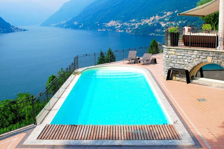 Villa with unique view on Lake Como