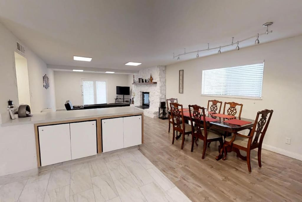 Island and Dining Area