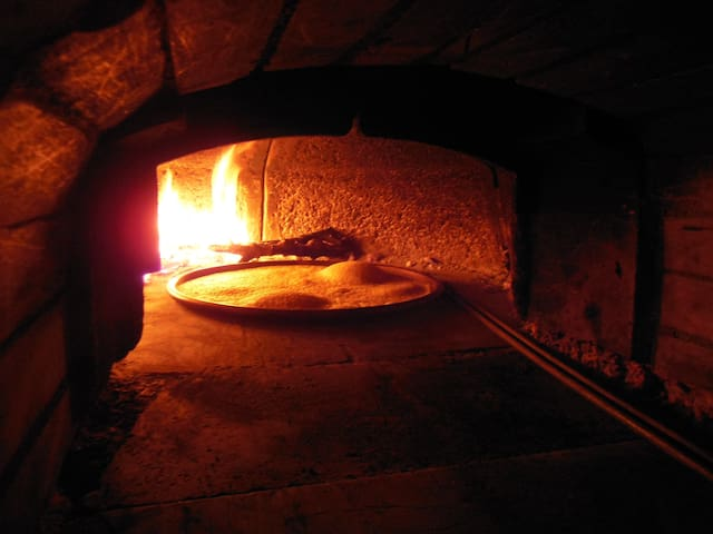 we also have a large pizza oven in the taverna