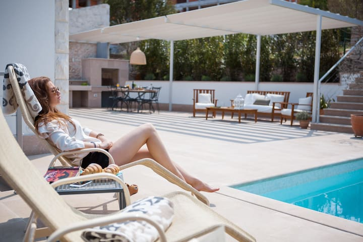 Charming Villa Dolce Vita with pool-sauna-fitness - Sutivan - Villa
