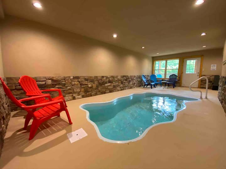 Private indoor pool, home theater/game room, and great WiFi!