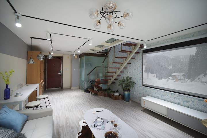 【三只燕子】新街口夫子庙市中心盈嘉大厦loft高层巨幕影院