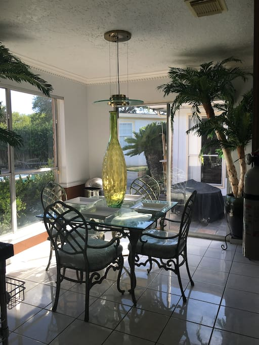Breakfast area perfect for relaxing and enjoying your morning coffee