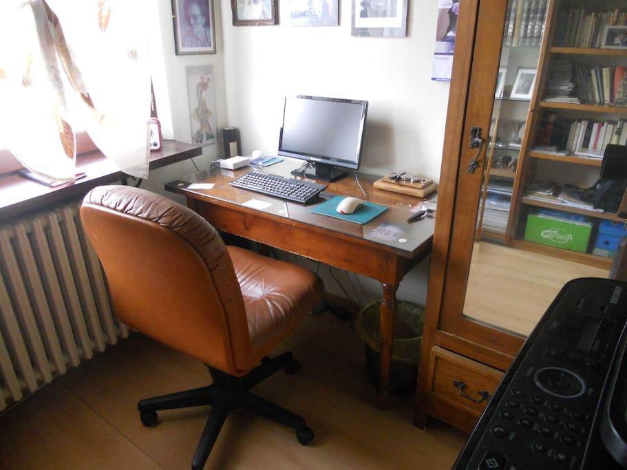 zona lavoro e lettura