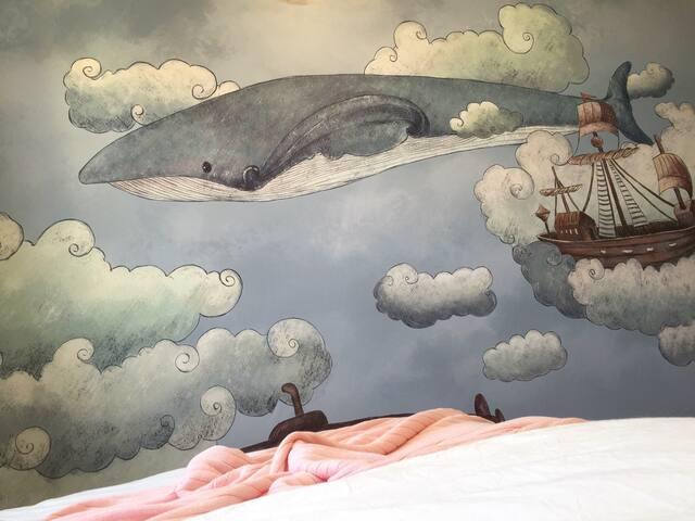 天空之城[月光下的大鲸鱼][空气清新无雾霾]798艺术区、青年路6号线地铁、朝阳大悦城公交直达 - 北京 - Casa