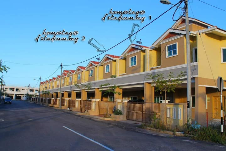 Homestay@d'stadium.my 2 | All-in 2-storey bungalow