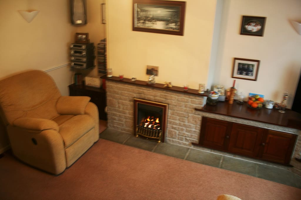 The front room with gas fire.