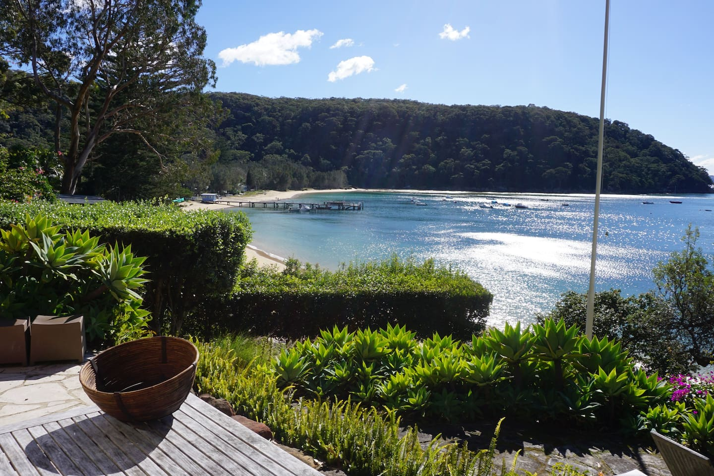 View from house overlooking wharf