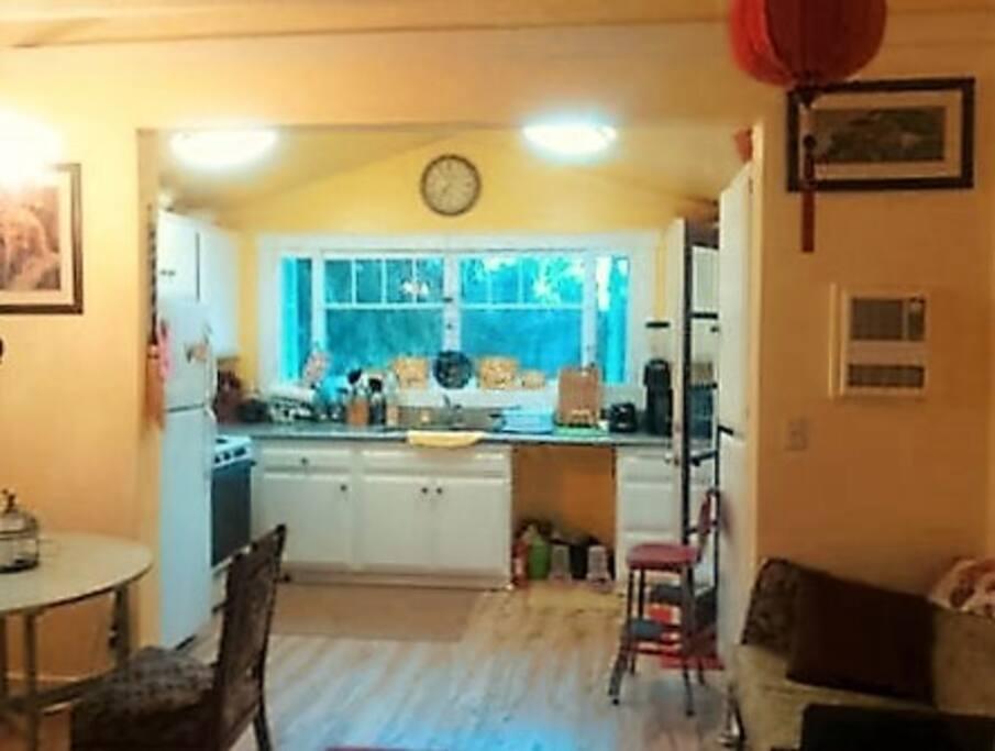 Sunny Open Plan Kitchen