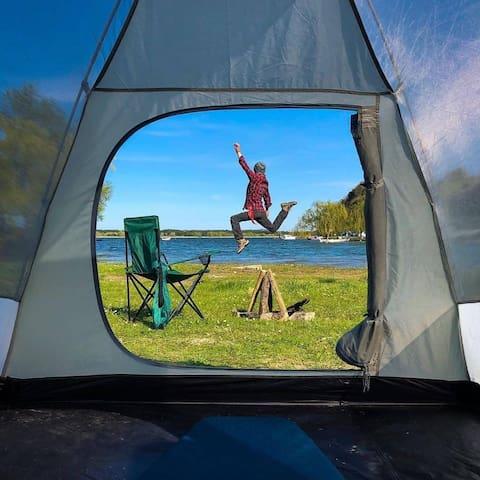 Terkos Gölünde Eşsiz Bir Kamp Alanı